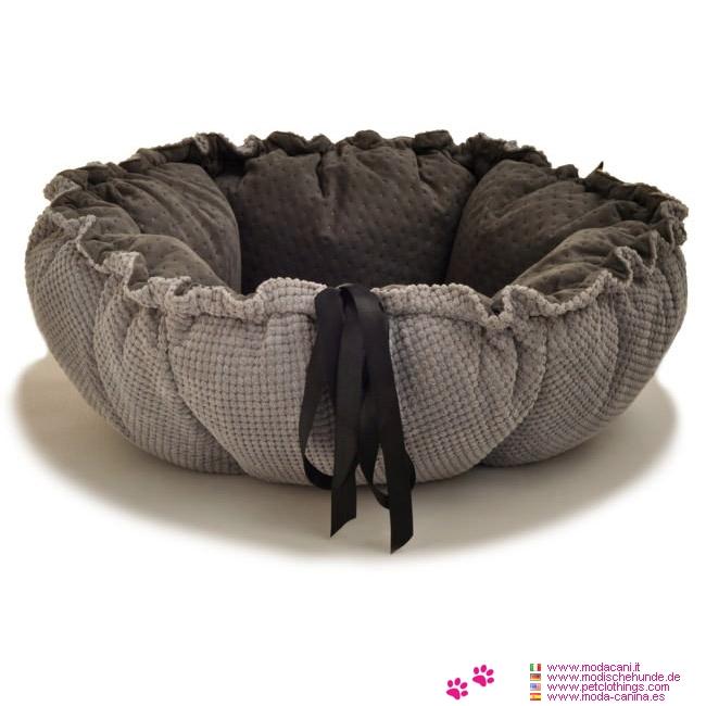 coussin panier pour chien marigold noir et gris. Black Bedroom Furniture Sets. Home Design Ideas