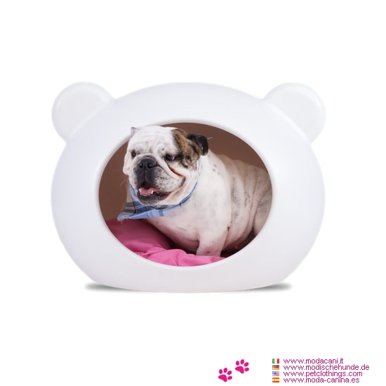 panier t te blanc pour petite chien chihuahua caniche. Black Bedroom Furniture Sets. Home Design Ideas