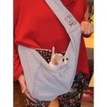 Grau Tasche für kleine Hunde