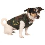 Steppjacke in Tarnfarbe Camouflage Grün für Hunde
