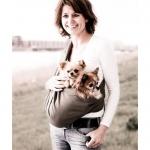 Tragetuch für Hunde bis 15 kg aus Baumwoll-Leinenstoff