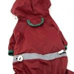 Dunkelrot Regenmäntel 4 Pfoten für kleine Hunde