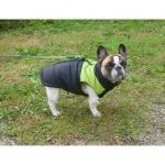Grün und Schwarz ärmellose Hund Jacke