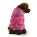 Sudadera en forro polar para Perros Pequeños Love Rosa