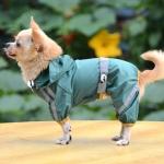 Impermeabile per Cani Verde Scuro a 4 zampe