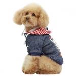 Sudadera New York Azul con Capucha Perro Pequeño