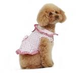 Vestido Melania para Perros Rosa con Lunares