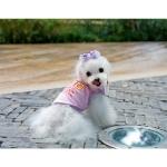 Trägershirt für Hunde Happiness in Rosa