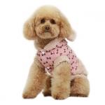 Mantel Rosa mit Pelz für Hunde