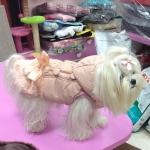 Rosa Jacke für Hunde mit Fell