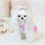 Rosa Tarnung Tank-Top für kleine Hunde
