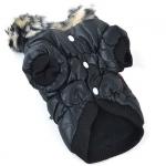 Bomberjacke für kleine Hunde mit Reißverschlussen in Schwarz