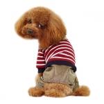 Anzug aus Baumwolle für kleine Hunde in Rot