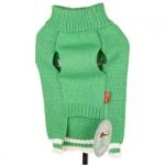 Grüne Pullover mit Ren für kleine Hunde