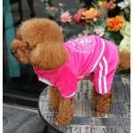 Royal Rosa Overall in Chenille für kleine Hunde