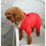 Gepolsterte Anzug für kleine Hunde in Rot