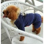 Gepolsterte Anzug für kleine Hunde in Blau