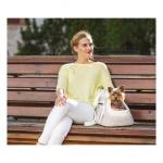 Elegante Tasche für kleine Hunde in Weiß
