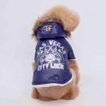 Las Vegas Blau Wintermantel für kleinen Hund