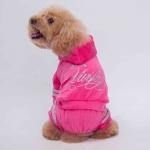 Licht Overall 4 Pfoten für kleine Hunde in Rosa
