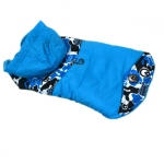 Blau Camouflage Jacke für kleinen Hund