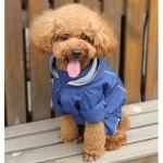 Blau Regenmantel 4 Pfoten mit Abnehmbarer Kapuze für kleine Hunde