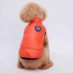 Wendemantel für kleine Hunde in Orange