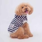 Gestreiftes Weißes und Blaues Sweatshirt für kleine Hunde