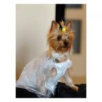 Weißes Hochzeitskleid für Hunde