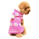 Rosa Hund Pulli mit Smile