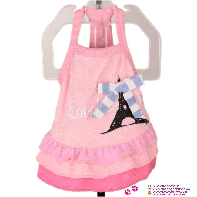 Rosa Kleid für Hündinnen Modell Pariser: Sommer-Kollektion von ...