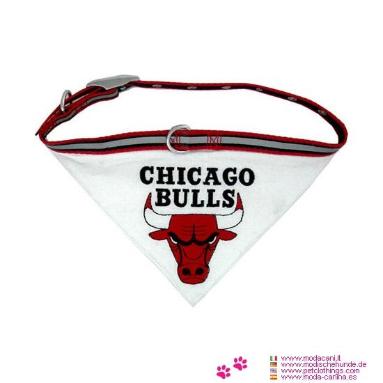 Nylon-Halsband für Hunde mit Bandana NBA Chicago Bulls