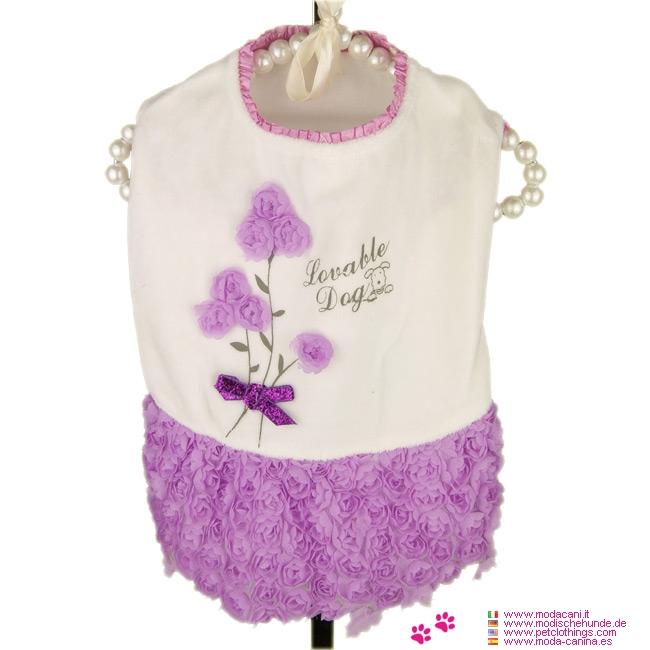 Kleid Kleine Hund mit Rosen-Rock Lilac