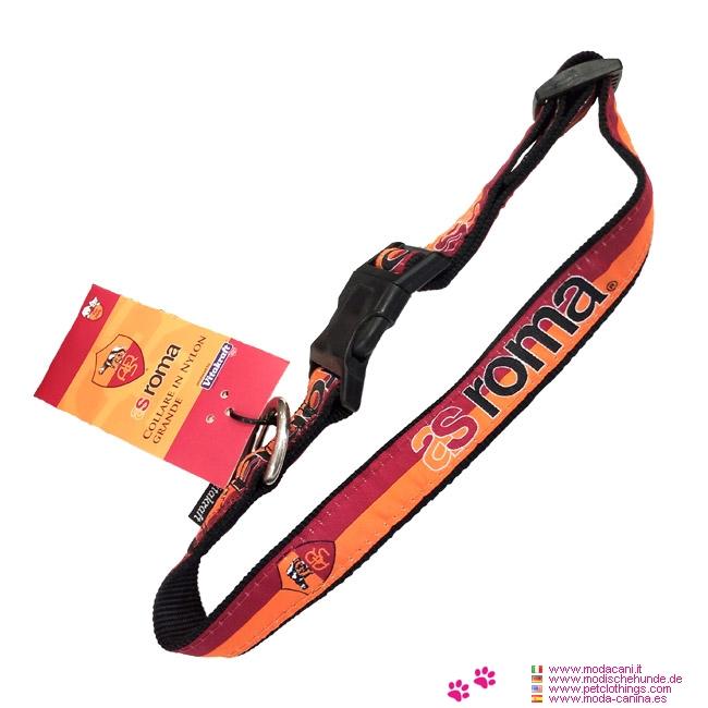 Nylon Hundehalsband AS Roma Fußball
