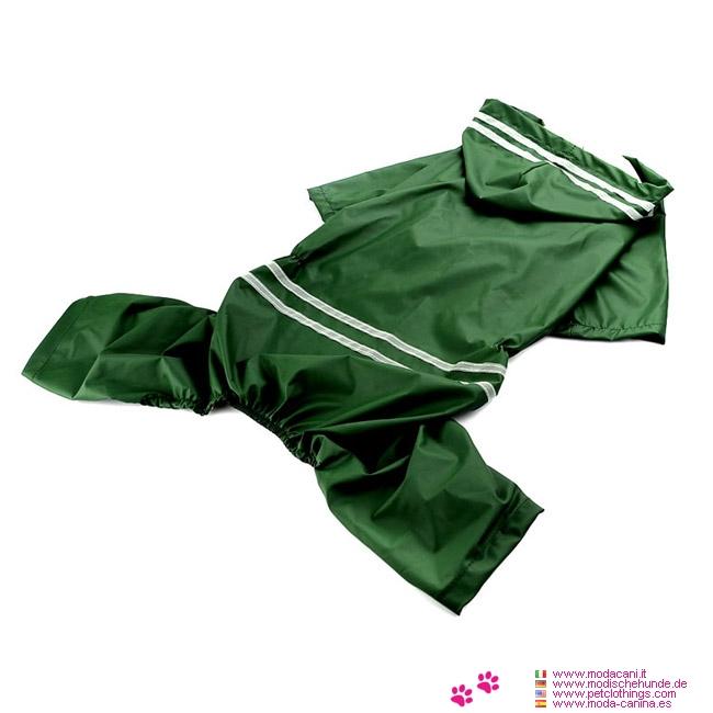 Regenjacke 4 Pfoten für Mittelgroße Hunde in Grün