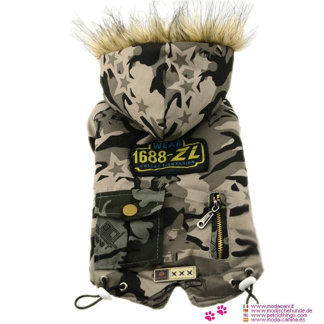 Beige Camouflage Jacke Air Force für Hunde