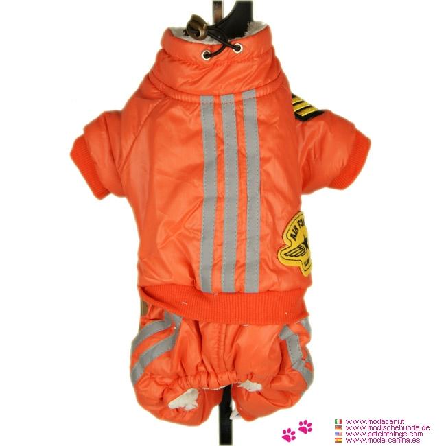 Winteranzug für Kleinen Hund Aviator Orange