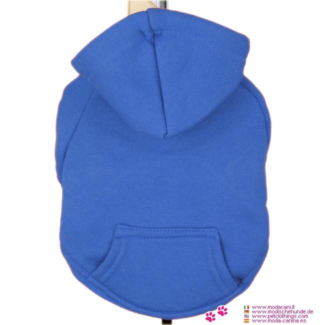 Königsblau Hoodie für Dackel aus Baumwolle