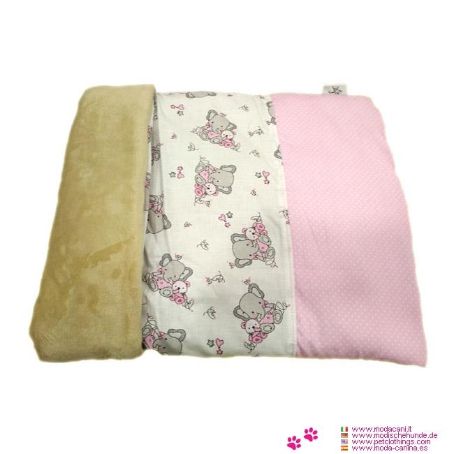 Rosa Schlafsack für kleinen Hund