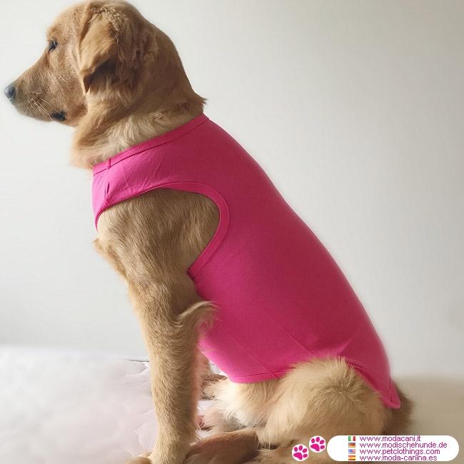 Solid-farbige Rosa Tank Top für große Hunde
