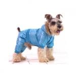 Traje Acolchado Azul para Perros