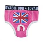 Rosa slip für Hunde mit Britischer Flagge