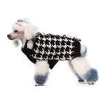 Houndstooth black and white sweater for dogs