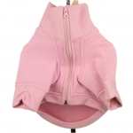Pink Sweatshirt for dogs with zipper