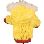 Anorak acolchado para perro Amarillo y Rojo