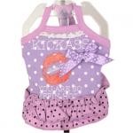 Lilac Sommerkleid für Hunde mit Tupfen