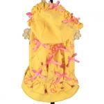 Kleid für Hunde 1000 Bögen mit Rock in Gelb