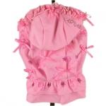 Kleid für Hunde 1000 Bögen mit Rock in Rosa