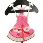 Rosa Kleid für Hunde mit kleinen Blumen