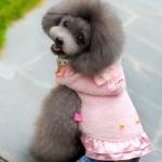 Chaqueta Polar pelo corto Rosa para Perros